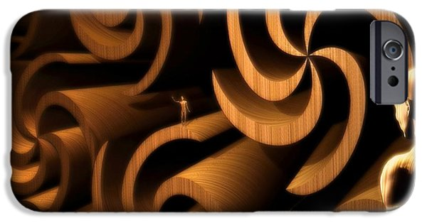Sign iPhone Cases - Inside My Gemini Mind iPhone Case by John Alexander