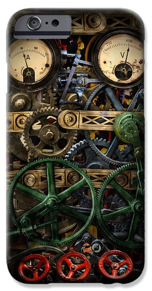 Mechanism iPhone Cases - Inside my phone iPhone Case by Nathan Wright