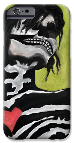 Creepy Pastels iPhone Cases - Inside-Out iPhone Case by Danae McKillop