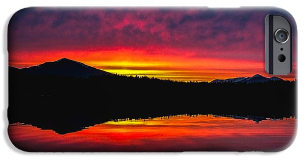 Port Hardy iPhone Cases - Inside Passage Sunrise iPhone Case by Robert Bales