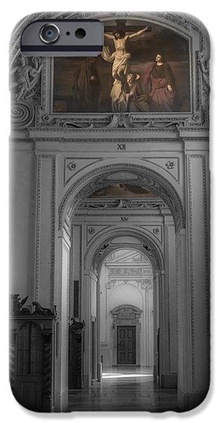 Salzburg iPhone Cases - Inside Salzburg Cathedral iPhone Case by Chris Fletcher