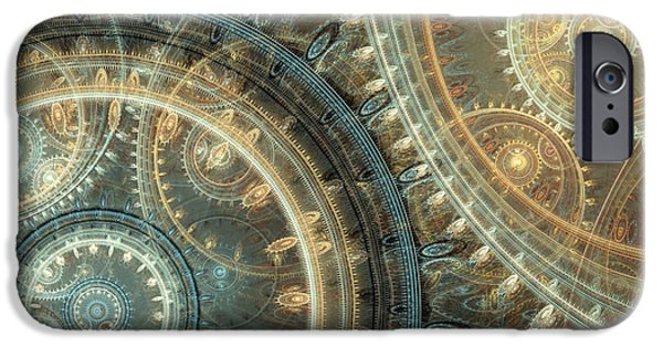 Abstract Digital iPhone Cases - Inside the clock iPhone Case by Martin Capek