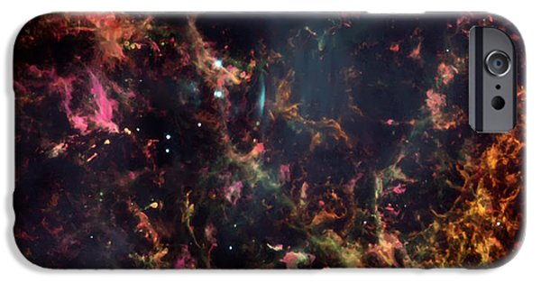 Nebula Images iPhone Cases - Inside the Crab Nebula  iPhone Case by The  Vault - Jennifer Rondinelli Reilly