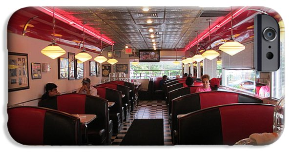 Stainless Steel iPhone Cases - Inside The Diner iPhone Case by Randall Weidner