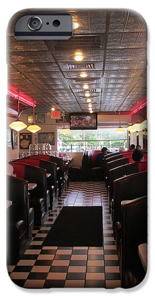 Inside The Diner iPhone Case by Randall Weidner