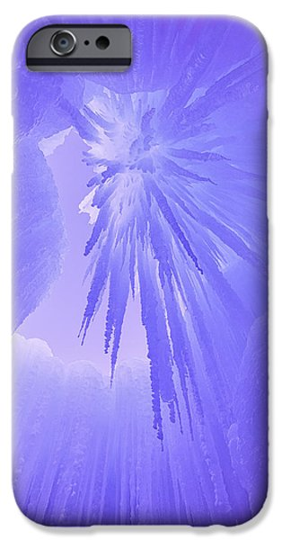 Winter Scene iPhone Cases - Inside the Ice iPhone Case by Darren  White