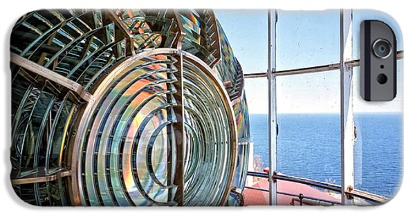Duluth iPhone Cases - Inside the Lighthouse iPhone Case by Edward Fielding