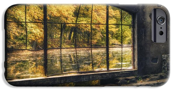 Surreal Landscape Photographs iPhone Cases - Inside the Old Spring House iPhone Case by Scott Norris