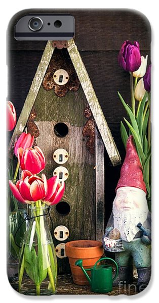 Barns iPhone Cases - Inside the Potting Shed iPhone Case by Edward Fielding