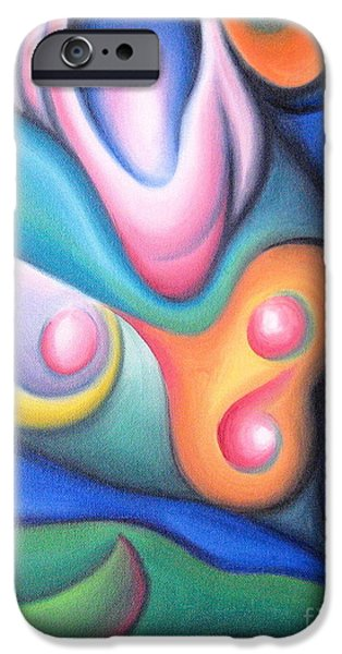 Abstract Expressionist iPhone Cases - Inside the Revelry of Motion iPhone Case by Tiffany Davis-Rustam