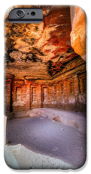 Jordan iPhone Cases - Inside the tomb iPhone Case by Alexey Stiop