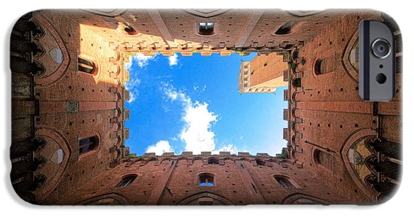 Tuscan Hills iPhone Cases - Inside the tower iPhone Case by Inge Johnsson