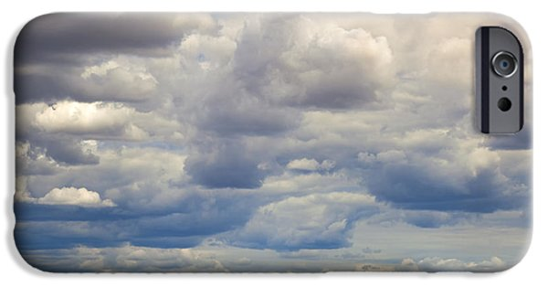 Field. Cloud Photographs iPhone Cases - Insignificant iPhone Case by Mike  Dawson