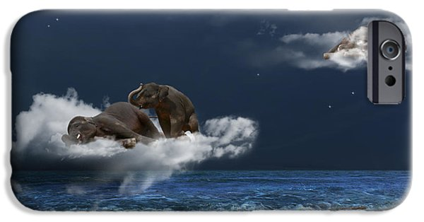 Elephant iPhone Cases - Insomnia iPhone Case by Martine Roch