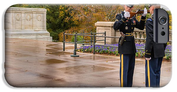 Soldiers National Cemetery Digital iPhone Cases - Inspection iPhone Case by Jerry Fornarotto