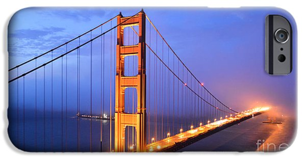 Sausalito iPhone Cases - The Golden Gate Bridge iPhone Case by Along The Trail