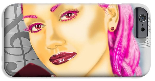 Gwen Stefani iPhone Cases - Inspirational Woman iPhone Case by Dora Taggett