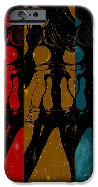 Inspirational Workout Triptyct iPhone Case by Justin Moore