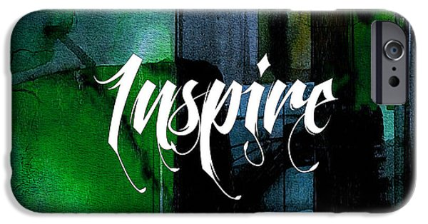 Inspirational iPhone Cases - Inspire Wall Art iPhone Case by Marvin Blaine
