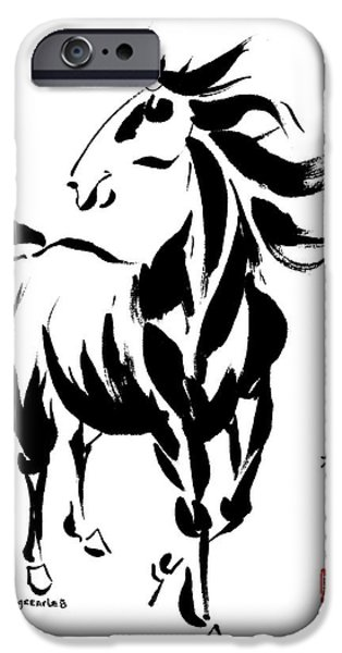 Year Of The Horse iPhone Cases - Instigator iPhone Case by Bill Searle