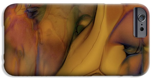 Van Goh Glass Art iPhone Cases - Intensity in Glass iPhone Case by Omaste Witkowski