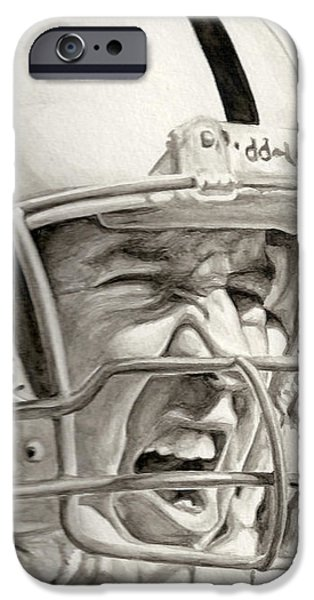Intensity Peyton Manning iPhone Case by Tamir Barkan