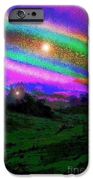 Hathor iPhone Cases - Interdimensional Kula iPhone Case by Susanne Still