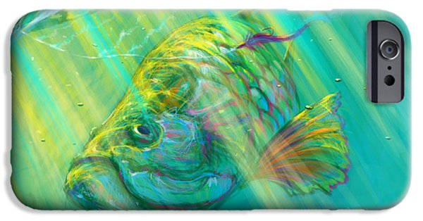 Redfish iPhone Cases - Interesting  iPhone Case by Yusniel Santos