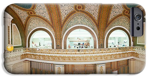 Mosaic iPhone Cases - Interior Detail Of Tiffany Dome iPhone Case by Panoramic Images