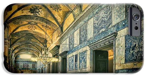 Interior Scene iPhone Cases - Interior Narthex iPhone Case by Joan Carroll