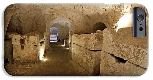 Antiques iPhone Cases - Interior Of A Catacomb iPhone Case by Photostock-israel