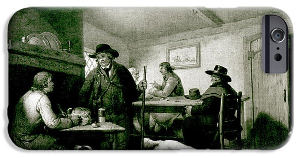 Pub iPhone Cases - Interior Of A Country Inn iPhone Case by George Morland