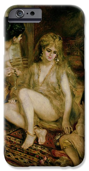 Harem Photographs iPhone Cases - Interior Of A Harem In Montmartre, Parisian Women Dressed As Algerians, 1872 Oil On Canvas iPhone Case by Pierre Auguste Renoir