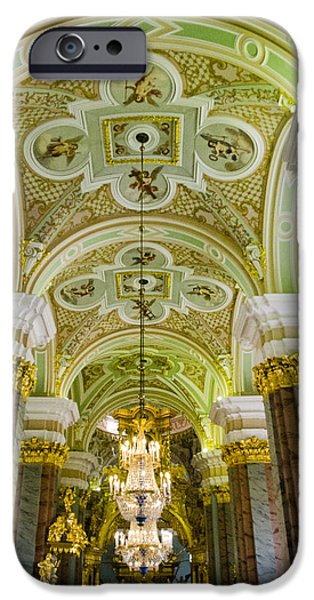 St John The Russian iPhone Cases - Interior of Cathedral of Saints Peter and Paul - St. Petersburg  Russia iPhone Case by Jon Berghoff