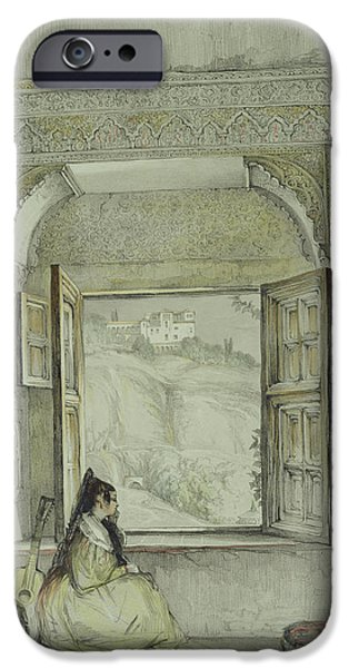 Palatial iPhone Cases - Interior Of The Palace at Madura iPhone Case by Thomas Daniell