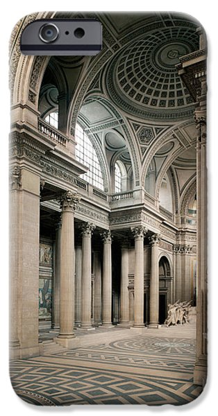Neo iPhone Cases - Interior View, 1764-1812 Photo iPhone Case by Jacques Germain Soufflot