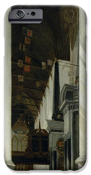 The Vault iPhone Cases - Interior view of the New Church in Delft iPhone Case by Emanuel de Witte