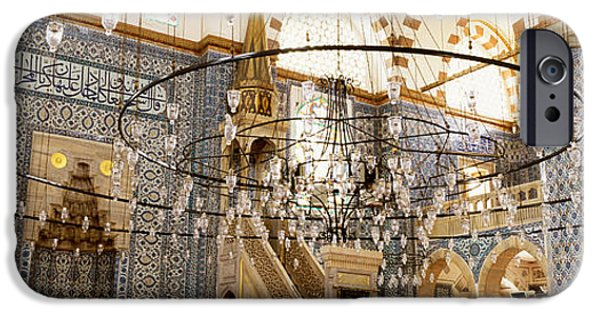 Mosaic iPhone Cases - Interiors Of A Mosque, Rustem Pasa iPhone Case by Panoramic Images