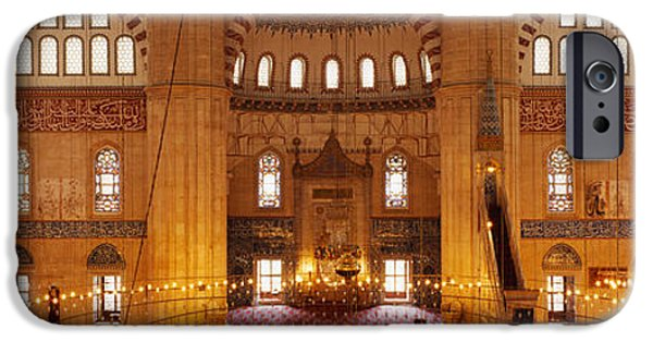 Mosaic iPhone Cases - Interiors Of A Mosque, Selimiye Mosque iPhone Case by Panoramic Images