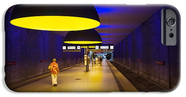 U-bahn iPhone Cases - Interiors Of An Underground Station iPhone Case by Panoramic Images