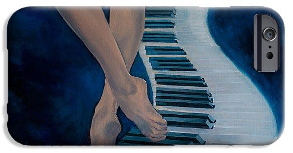 Piano iPhone Cases - Intermezzo iPhone Case by Dorina  Costras