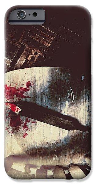 Empty Chairs iPhone Cases - Internal interrogation iPhone Case by Ryan Jorgensen