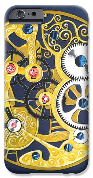 Internal Mechanisms iPhone Case by Nina Shilling