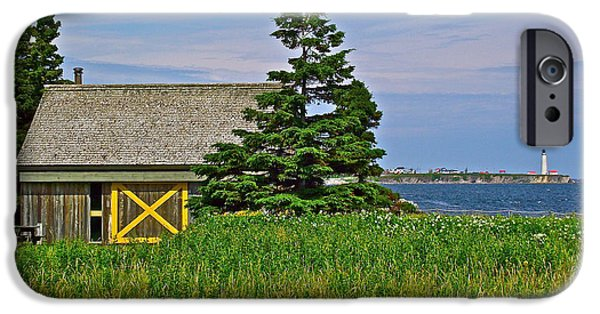 Interpretive iPhone Cases - Interpretive Center in Forillon NP Near Des Rosiers Lighthoouse in Forillon NP-QC iPhone Case by Ruth Hager