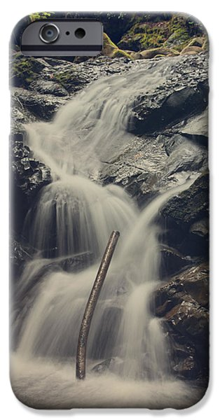 Water Flowing iPhone Cases - Interruptions iPhone Case by Laurie Search
