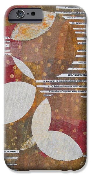 Diagram Paintings iPhone Cases - Intersection of Contents iPhone Case by Alana Boltwood