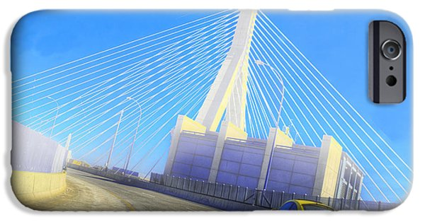 Newengland iPhone Cases - Interstate 93 in Boston iPhone Case by Rick Mosher