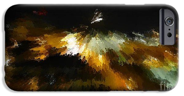 Modern Abstract iPhone Cases - Interstellar Metamorphosis iPhone Case by Barbie Corbett-Newmin