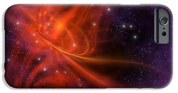 Stellar iPhone Cases - Interstellar Twister iPhone Case by Corey Ford