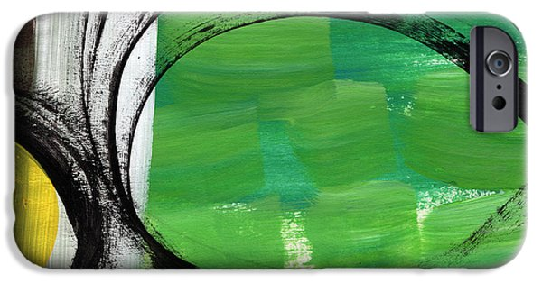 Contemporary Abstract iPhone Cases - Intertwined- Abstract Painting iPhone Case by Linda Woods